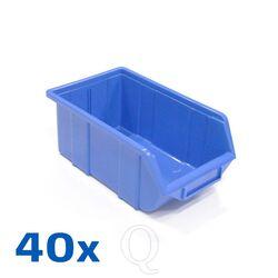 Voordeelverpakking 40 Begra kunststof stapelbak type 3, 250x165x125 blauw