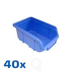Voordeelverpakking 40 Begra kunststof stapelbakken type 4, 170x110x75 blauw