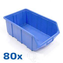 Voordeelverpakking 80 Begra kunststof stapelbak type 1, 515x330x200 blauw
