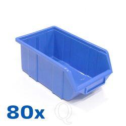 Voordeelverpakking 80 Begra kunststof stapelbak type 2, 355x220x150 blauw
