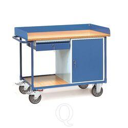 Werkplaatswagen 400 kg met 1 kast en 1 schuiflade 1120x650 mm