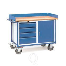 Werkplaatswagen 400 kg met 1 kast en 4 schuifladen 1120x650 mm