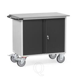 Werkplaatswagen van staalplaat 400 kg met dubbele deuren 985x590 mm (lxb) antraciet
