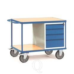 Zware werkplaatswagen 600 kg met 4 schuifladen en 2 laadvlakken 1050x700 mm
