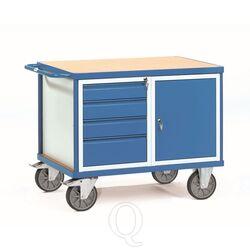 Zware werkplaatswagen 600 kg met 4 schuifladen en 1 kast 1050x700 mm